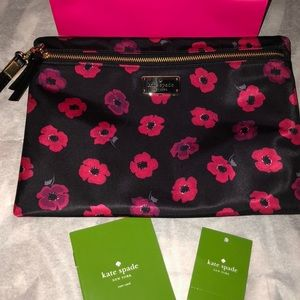 kate spade Accessories - 🌹KATE SPADE 🌺FLOWERED CLUTCH/POUCH 🎉